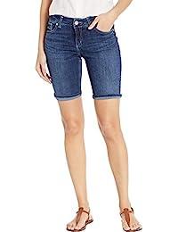 Silver Jeans Co. Women's Suki Curvy Fit Mid Rise Bermuda Shorts
