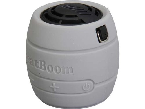MicroNet BeatBoom Portable Wireless Bluetooth Speaker - Retail Packaging - Silver/Black