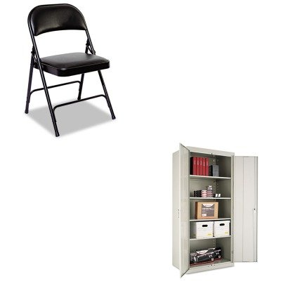 KITALECM7824LGALEFC96B - Value Kit - Best Assembled 78amp;quot; High Storage Cabinet (ALECM7824LG) and Best Steel Folding Chair With Padded Back/Seat (ALEFC96B) by Best