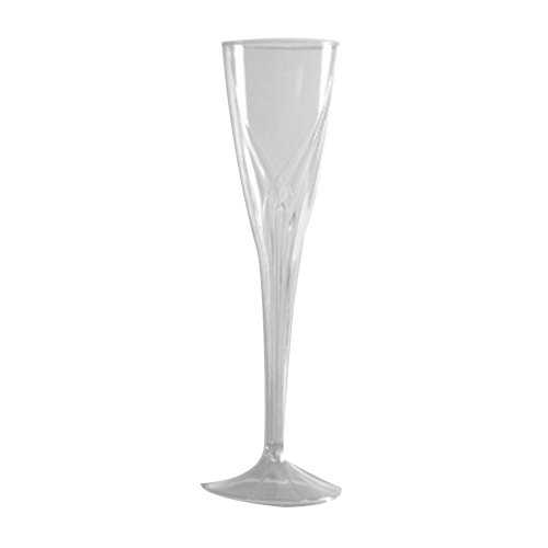 Classicware One-Piece Champagne Flute Glass in Clear by WNA Comet