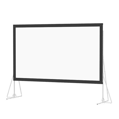 Dual Vision Heavy Duty Deluxe Fast Fold Complete Front and Rear Projection Screen - 6' x 8' Size: 9' x - Cinema Projection Vision Screen