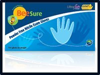 EcoBee Powder-Free Nitrile Exam Gloves Small Case by ecobee