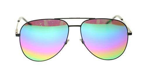SAINT LAURENT Unisex Sunglasses SL Classic 11 007 Black/Rainbow Lens Aviator - Mens Yves Saint Sunglasses Laurent