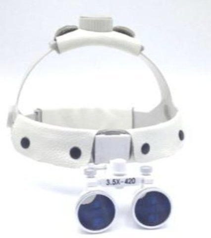 2.5X/3.5X Surgical Loupes Maginifying Glasses with Leather Headband by Oubo Dental