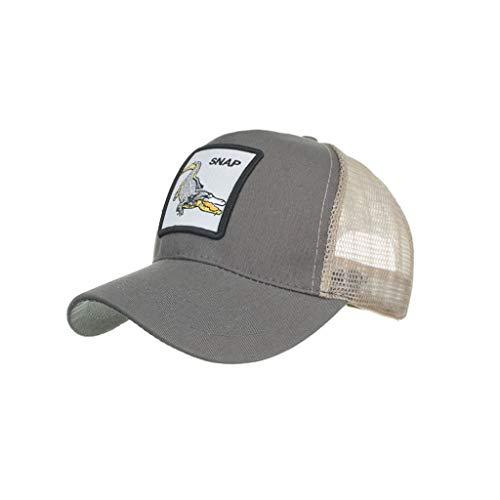 FEDULK Unisex Fashion Baseball Caps Animals Embroidery Hip Hop Outdoor Sport Casual Summer Sun Hats(H)