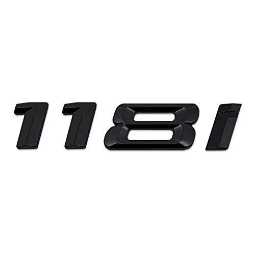 E87 F40 Models Gloss Black 118i Lettering Rear Boot Lid Trunk Badge Emblem For 1 Series E81 F20 E88 E82 F21 F52