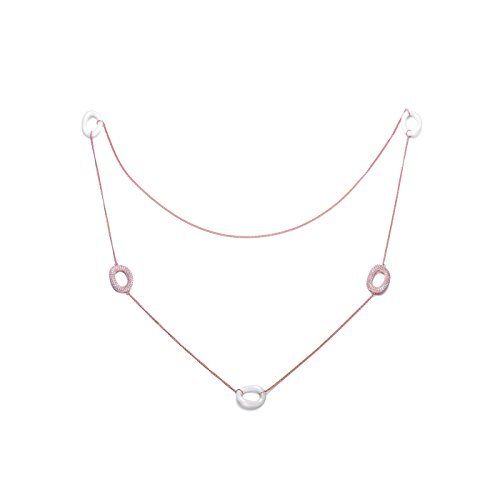 white-ceramic-ovel-links-cz-rose-necklace