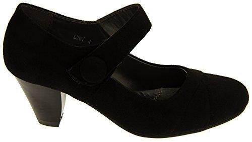 Shoes Footwear Womens Black Court Mary Faux Jane Studio Annabelle Suede BUq6w8xgSU