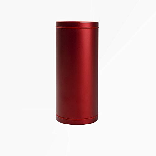 Cylinder Metallic Tissue Holder for car Household Paper Towel Box Container (Red) by tobnone