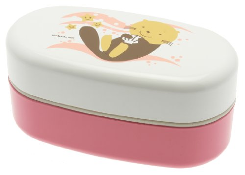 Kotobuki 2-Tiered Bento Box, Pink Sea Otter