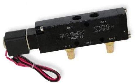 Velva 320178 12 Volt 4-Way/3-Position Solenoid Valve 1/4
