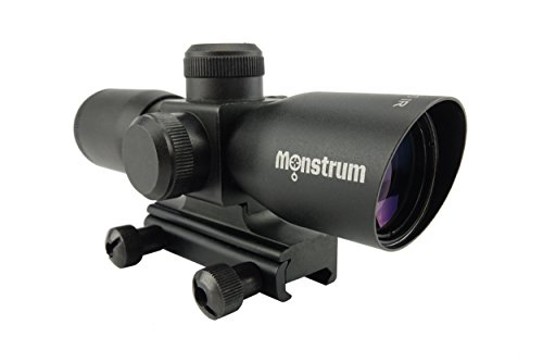 Monstrum Tactical Monstrum Tactical 4x30 Ultra-Compact Rifle Scope with Illuminated Range Finder Reticle (Black) price tips cheap