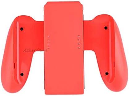 KEHUITONG Nintendスイッチコントローラハンドルグリップ快適なゲームパッドホルダーレーシングホイールは、任天堂スイッチNintendoswitch喜び-CON用スタンド (色 : 赤)