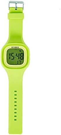 Montres numériques pour enfants, multifonctionnel à la mode dames gelée numérique électrique étanche coloré Sport LED alarme chronomètre calendrier lumineux montre-bracelet en silicone cadeau pour f