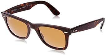 Ray-Ban Wayfarer Polarized Square Sunglasses, Tortoise & Crystal Brown Polarized, 50 mm