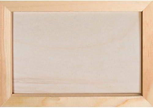 Graham Dunn Frame Natural Wood Finish 7 x 7 Kiln Dried Pine Wood Decorative Craft Plaque P