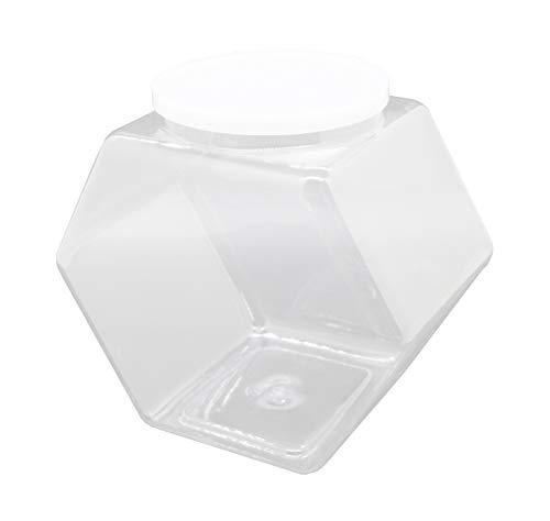 FixtureDisplays 12PK PVC Jars 1 Gallon Plastic Candy Bin w/Lift Off Lid - Clear 19485-12PK-FBA