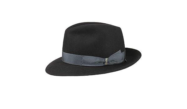 Borsalino Sombrero Fedora 50 Gramos by Sombreros de fieltrosombrero Hombre  (63 cm - Negro)  Amazon.es  Ropa y accesorios ee8ef6be007