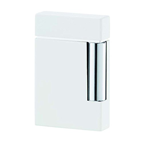 Image of Fire Starters S.T. Dupont Ligne 8 White Lacquer and Chrome Lighter [25103]