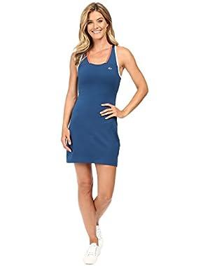 Lacoste Women's Sleeveless Mesh Layer Racerback Technical Tennis Dress