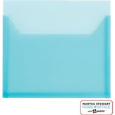 """Martha Stewart Home Office with Avery Large Pocket, Blue, 12"""" x 10 1/4"""""""