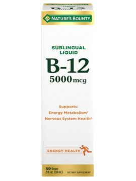 Nature's Bounty, Super Strength B-12, 5000mcg, 2-Ounce (Pack of 3) by Nature's Bounty