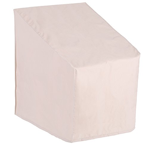 Patio Watcher High Back Patio Chair Cover, Durable and Waterproof Out Furniture Chair Cover,Beige