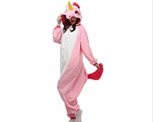 Keep It Clean Adult Costumes (JIMINCI New Pajamas Anime Costume Adult Animal Onesie Unicorn Cosplay (L, Pink))