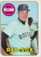 1969 Topps Regular (Baseball) card#349 Dick Williams of the Boston Red Sox Grade Fair/Poor