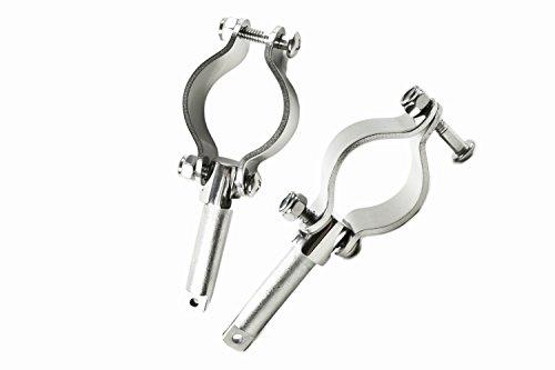 (Marine City Stainless-Steel Clamp on 1-5/8 Inches Rowlocks/Oarlocks (2 Per Pack))