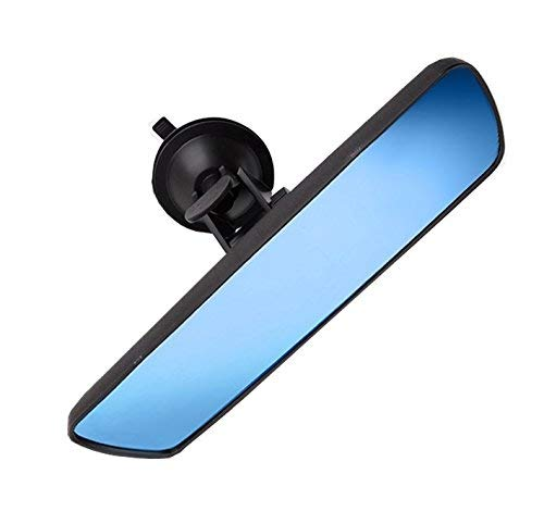 Anti-glare Day/Night Rear View Mirror, Universal Car Truck Interior RearView Mirror ANTI GLARE Suction Cup Blue Mirror(Width 24.5cm/9.6in) Heart Horse