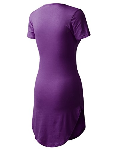 All T Dress in Dolphin USA Short Atplr001 for eggplant Women's Made You Shirt rXwOgqr