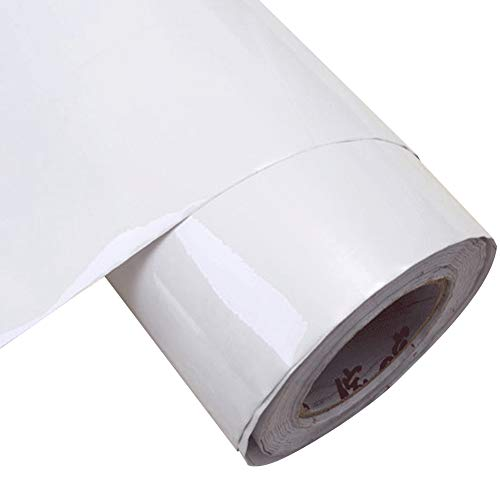 - YIZUNNU Kitchen Sticker PVC Self Adhesive Sheet Cabinets Wardrobe,24x98 Inch,Flash Point White