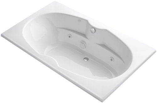 Proflex 7242 Whirlpool - Kohler K-1131-HE-0 7242 Whirlpool with Custom Pump Location and Heater, White
