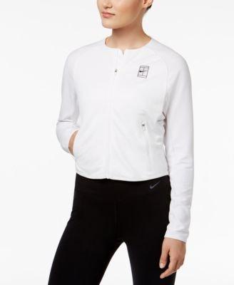 NIKE Court Dri-FIT Tennis Jacket White S