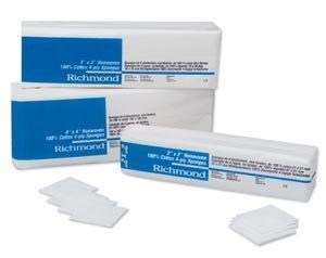 Richmond Dental 300631 100% Cotton Non-Woven Sponge, 4-Ply, Non-Sterile, 2'' Width, 2'' Length (Pack of 5000) by Richmond Dental