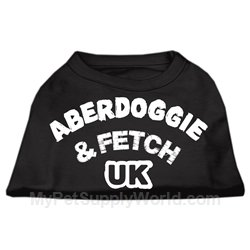 Mirage Pet Products Aberdoggie UK Screenprint Shirts Black XXXL (20)
