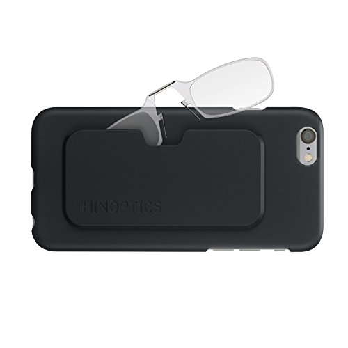 ThinOptics Reading Glasses + iPhone 6 Plus or iPhone 6S Plus Case | Clear Frames, 1.50 Strength