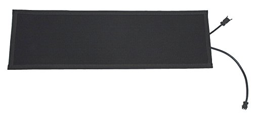 "Powerblanket SM11x48 Summerstep Snow and Ice Melting Heated Stair Mat, Anti-Slip, 120V, 98W, 11"" Wide x 4' Long, Black from Powerblanket"