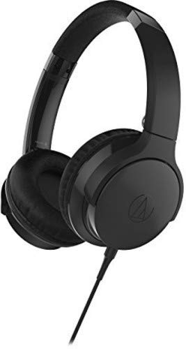 Audio-Technica ATH-AR3iSBK SonicFuel On-Ear Headphones with Mic & Control, Black