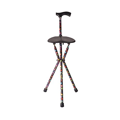 Switch Sticks Walking Stick With Seat, 2-in-1 Folding Walking Stick Seat, Bubbles by Switch Sticks (Image #2)