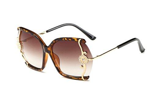 gafas conducen la de QQB de A caja marea de vidrios la los X565 grandes Gafas gradientes A Vidrios sol la de Señoras manera Color gafas de sol incrustados diamante YxHxwqZA