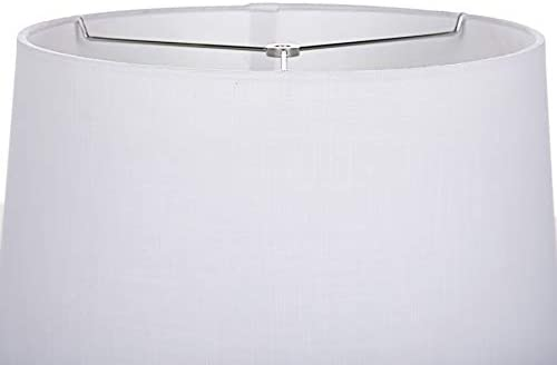 allen roth 10-in x 15-in White Linen Fabric Drum Lamp Shade