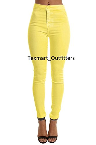 Yellow Jeans Skinny Jeggings Pants size High Ladies New 16 6 stretchy Waisted Brand f4g7q7