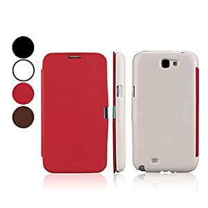 Litchi Grain Full Body PU Leather Protective Case for Samsung Galaxy Note 2 N7100 (Assorted Colors) --- COLOR:Red