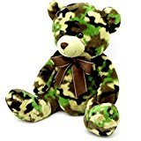 "Dan Dee Camouflage Teddy Bear Plush 19"""