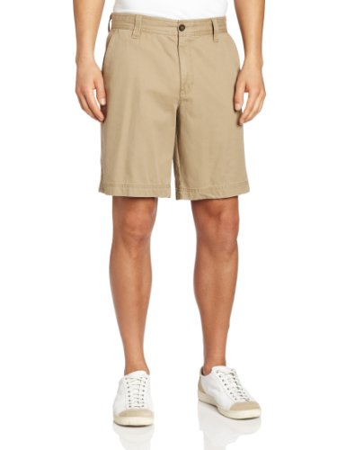 IZOD Men's Saltwater Flat Front Short, True Cedarwood Khaki, 32W
