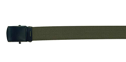 Rothco Military Web Belts With Black Buckle, Olive Drab, 44 Inches ()