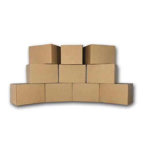uBoxes Medium Moving Boxes, 18 x 14 x 12 inch, 10 Pack, Cardboard Box - Tape Packing High Carton Quality