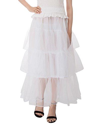 GRACE KARIN Jupon Femme sous Robe Longue Cheville Petticoat en Tulle Longueur 100cm (6 Couleurs) Cl746-2